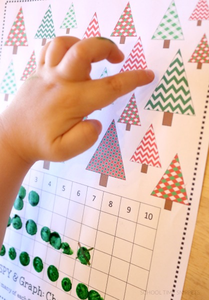 Chrismtas Math Activity- Graph Christmas Trees