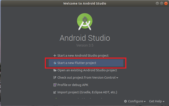 Android Studio - New Flutter Project