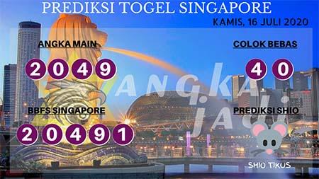 Prediksi Togel Angka Jadi Singapura SGP Kamis 16 Juli 2020