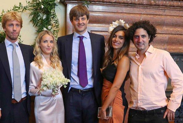 Pierre Casiraghi, Beatrice Borromeo, Princess Alexandra, Charlotte Casiraghi and Princess Caroline of Monaco attended wedding ceremony in Hanover, Germany