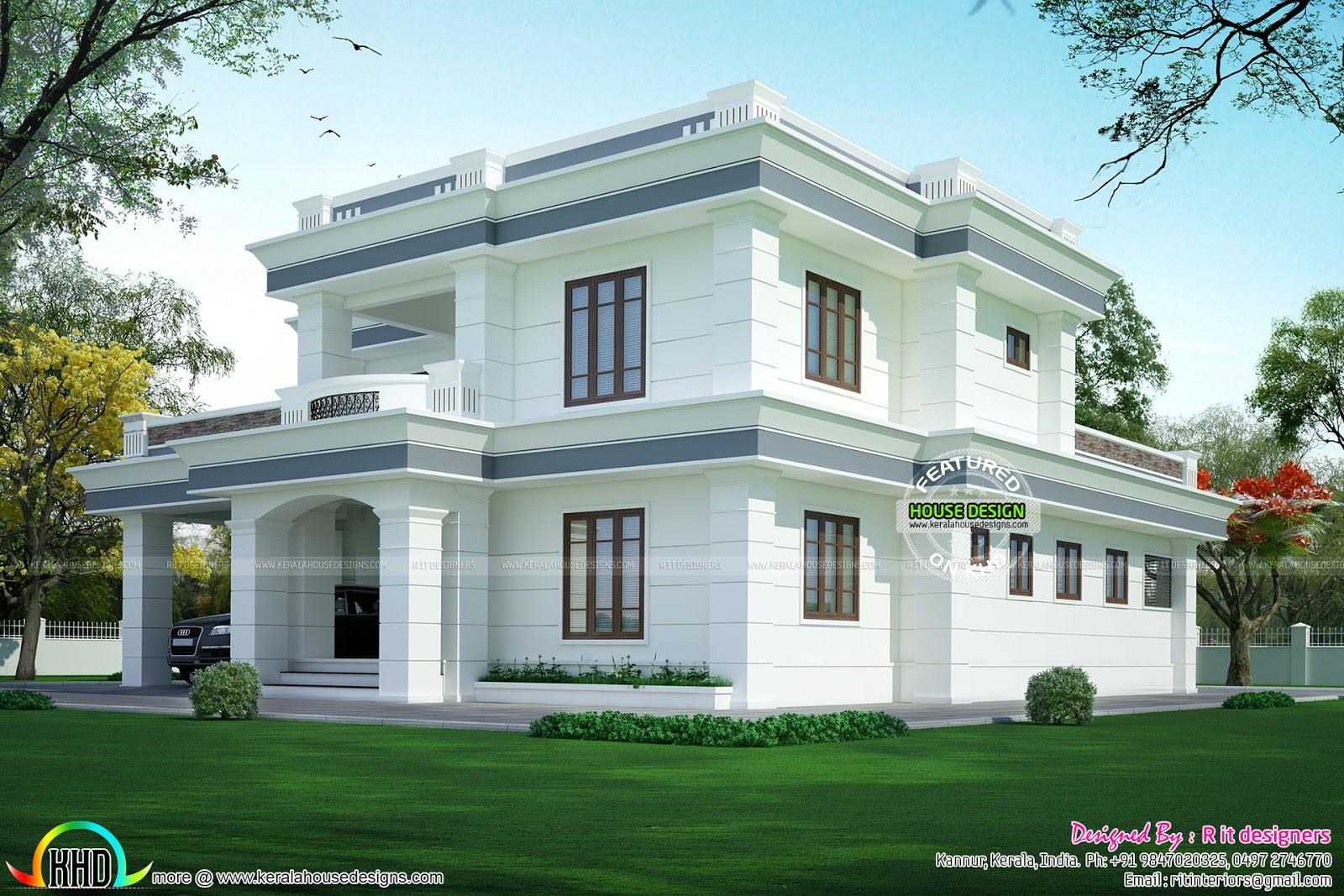 Kerala home design and floor plans modern flat roof house in sq yd casas modernas pinterest  moderno also rh co