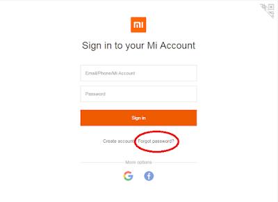 Cara Mengembalikan Akun Mi Cloud (Reset) Karena Lupa Password 2
