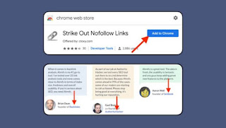 Strike Out Nofollow Links