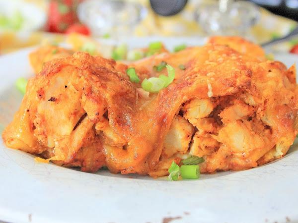 Air Fryer: Chicken Enchiladas