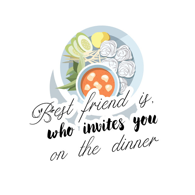 Best friend is, who invites you on the dinner