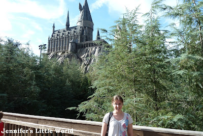 Standing outside Hogwarts Castle