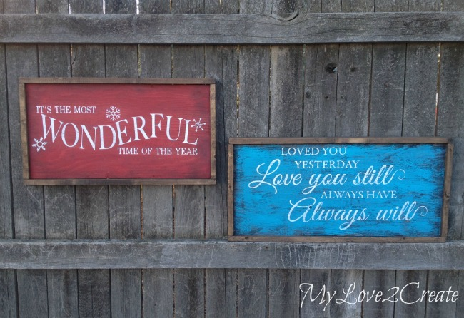 MyLove2Create, Potter Barn It's the most wonderful time of the year, a knock off, and a reversible sign