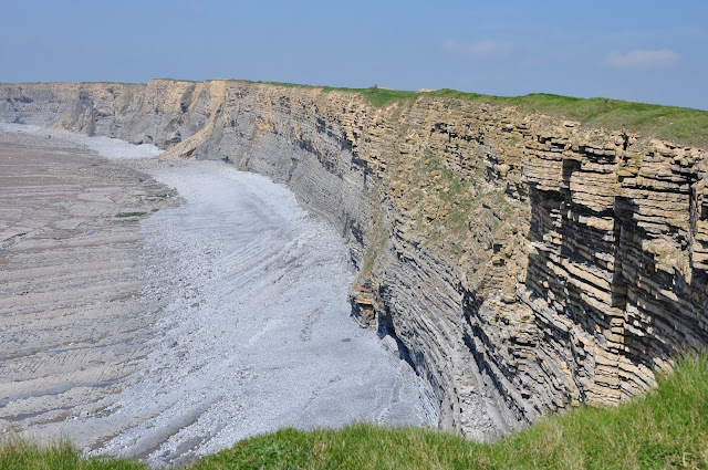 Nash Point natural rock formations, Wales, UK