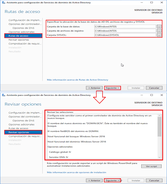Windows Server 2016: Promocionar un servidor a controlador de dominio de Active Directory. - Comprobar requisitos previos.
