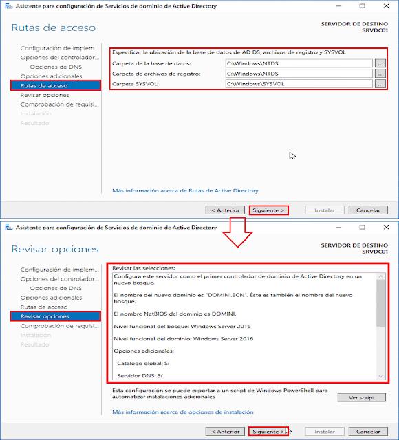 Windows Server 2016: Promocionar un servidor a controlador de dominio de Active Directory. - Comprobar requisitos previos.