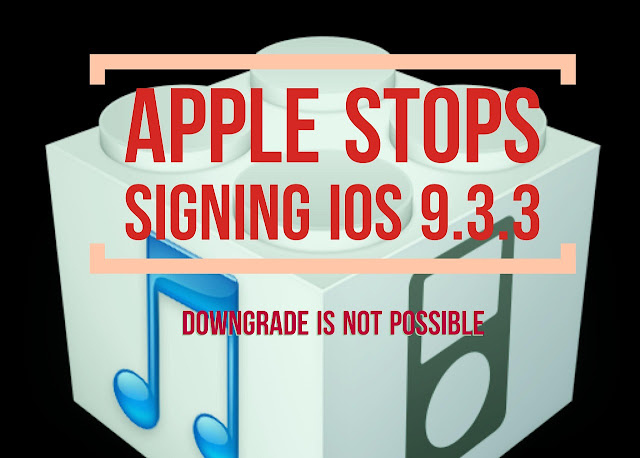 Now you can't downgrade to iOS 9.3.3 on iPhone, iPad and iPod touch, as Apple stops signing iOS 9.3.3 so if you are on iOS 9.3.4 and also cannot upgrade to iOS 9.3.3, if you are on lower versions.