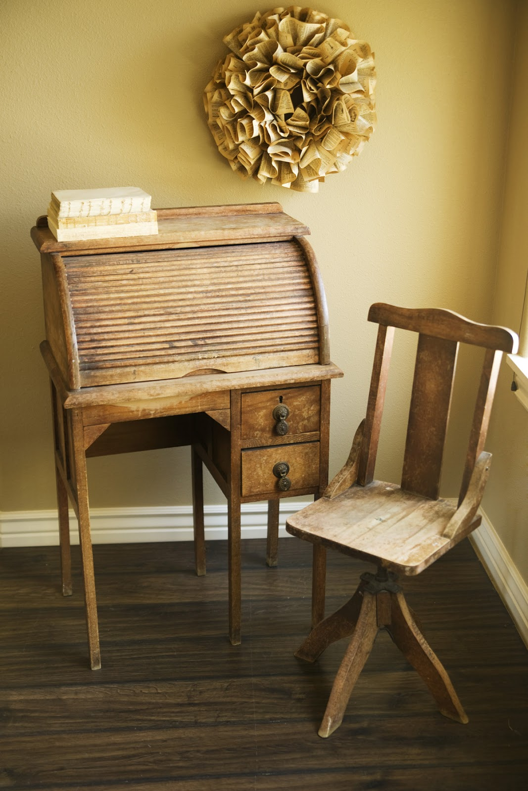 childs desk and chair vintage rattan sold antique child 39s roll top alice