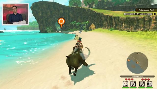 Monster Hunter Stories 2 Hakolo Island riding Bulldrome Nintendo Treehouse Live E3 2021