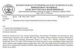 Info Penting Pendataan Calon Peserta PPG Dalam Jabatan Melalui Sim PKB