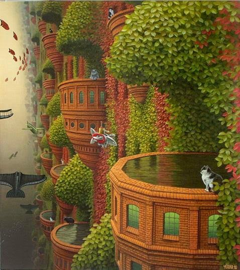 Hidroterapia - Jacek Yerka e seu surrealismo fantástico ~ Polonês