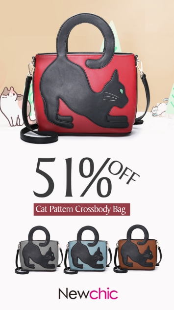 cat pattern cute crossbody bag