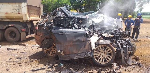 Jataí: Empresário morre em grave acidente na BR-364