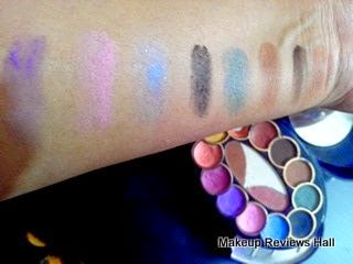 Eyeshadow Swatches - shades & colors