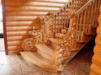 escalera tallada madera