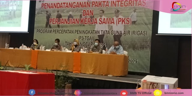 BBWS Hadiri Penandatanganan Pakta Integritas Dan PKS
