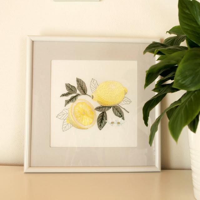 machine embroidery fruit машинная вышивка фрукты