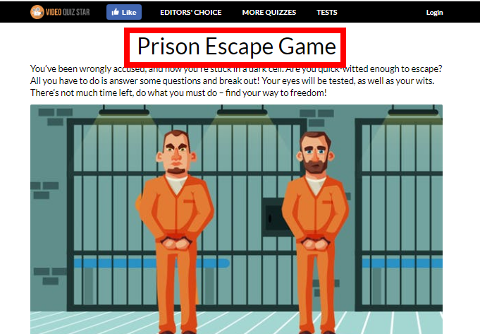 Prison Escape Quiz Answers 30 Questions VideoQuizStar