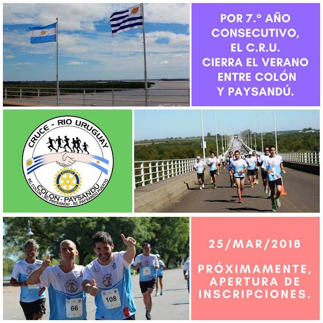 21k 10k y 5k Cruce del río Uruguay (Paysandú - Colón, 25/mar/2018)