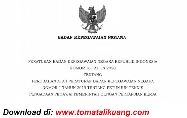 peraturan bkn nomor 18 tahun 2020 tentang perubahan petunjuk teknis juknis pengadaan pppk p3k pdf tomatalikuang.com