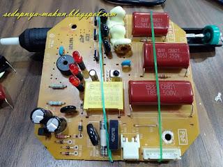 masukkan capacitor baru
