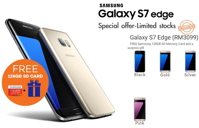 Samsung Galaxy S7 Edge Free 128GB SD Card Lazada Malaysia