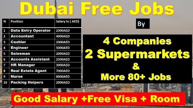Dubai Jobs By 4 Companies & 2 Supermarket -2020