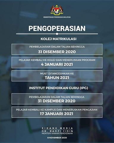 Covid-19 Penutupan Operasi Sekolah 2020
