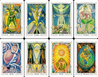 El Tarot de Crowley, Arcanos Mayores