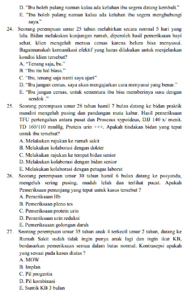Contoh Soal Tes Tertulis Seleksi Cpns Atau Tenaga Non Pns