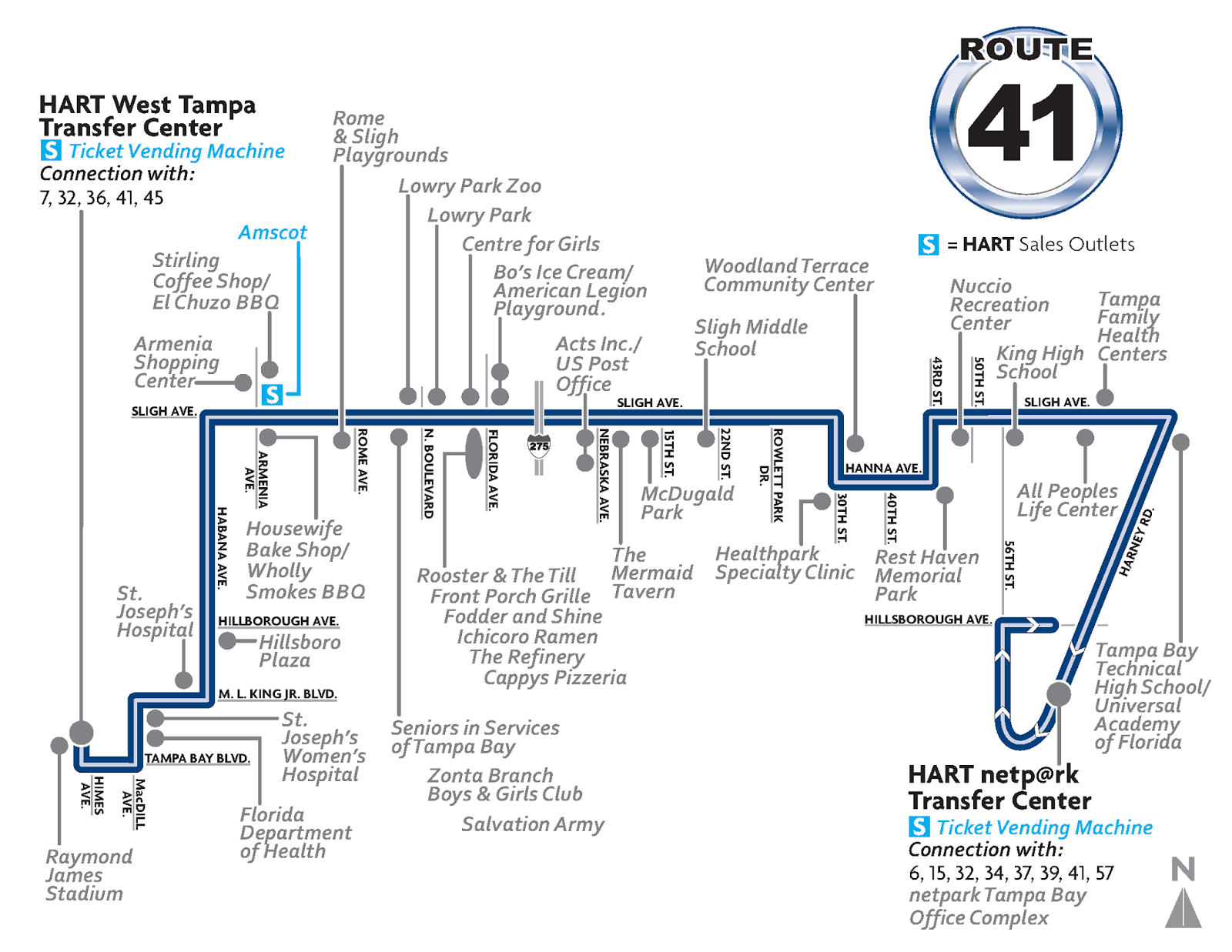 Map Of Route 41