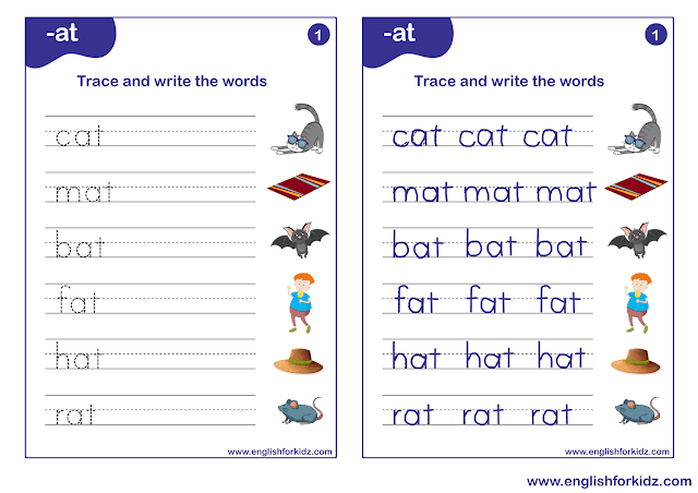 Phonics worksheets for elementary students