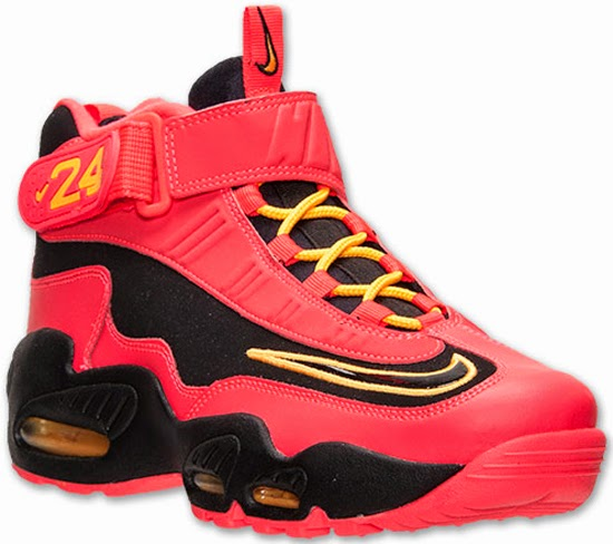 reputable site 8c9b3 44667 This new colorway of the Nike Air Griffey Max 1 comes in black, black,  laser crimson and atomic mango. Featuring a crimson red based upper with  black and ...