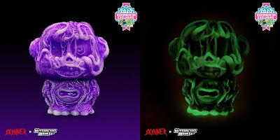Designer Con 2020 Exclusive Zom the Portal Monkey Purple Glow Swirl Edition Vinyl Figure by Hyperactive Monkey x Skinner