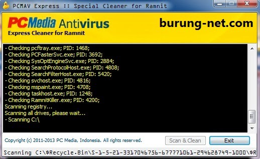 antivirus pembasmi virus ramnit shorcut