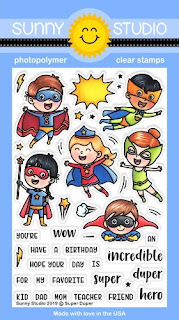 Sunny Studio Stamps: Super Duper Superhero 4x6 Clear Photopolymer Stamp Set
