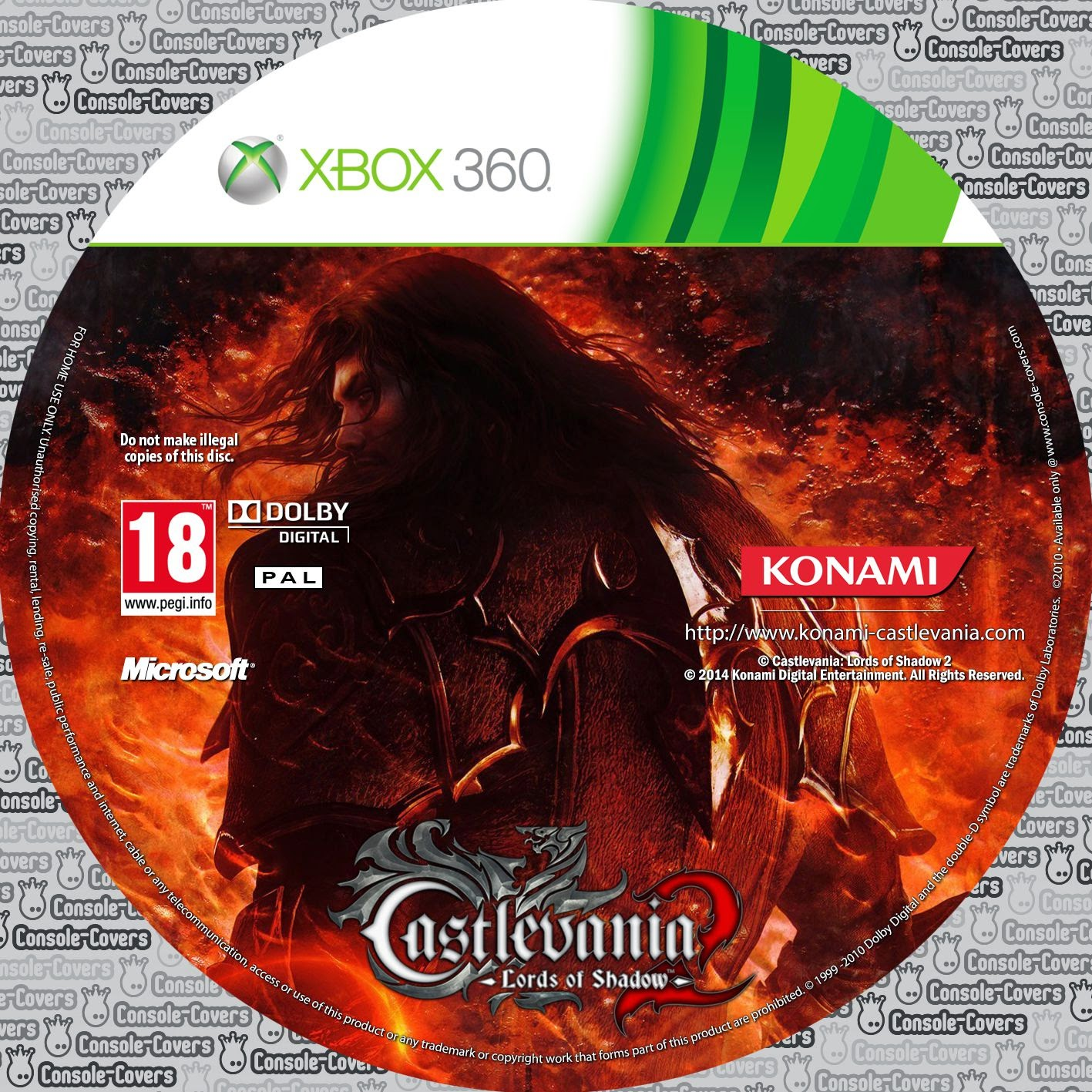 Label Castlevania Lords Of Shadow 2 Xbox 360