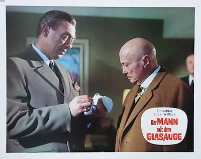 The Man With the Glass Eye, lobby cards, Rialto, Edgar Wallace, Alfred Vohrer