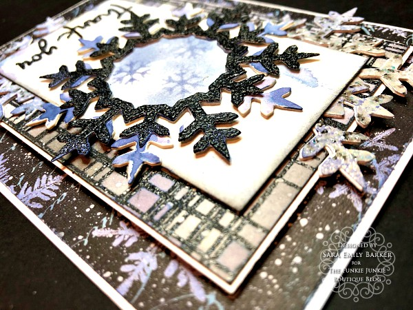 Sara Emily Barker https://sarascloset1.blogspot.com/2020/01/mixed-media-layered-card.html #timholtz #mixedmedia #wreath&snowflake #lumberjack 5