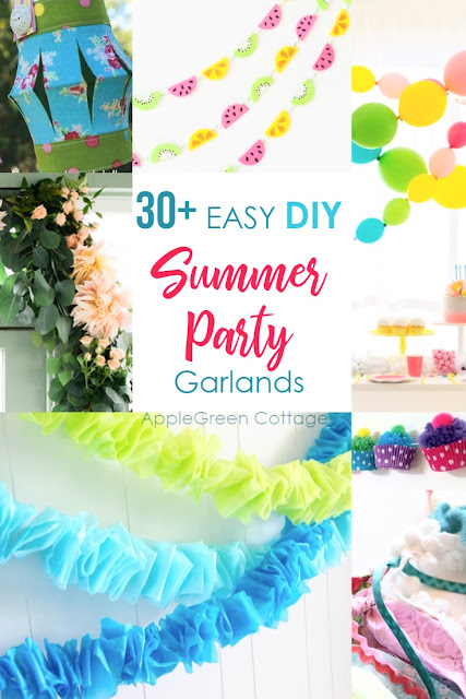 Diy party decorations - garlands are so simple and inexpensive to make, here are over 30 ideas to diy
