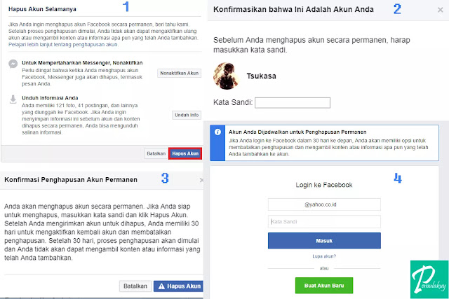 Cara Menghapus Akun Facebook Permanen Lewat PC