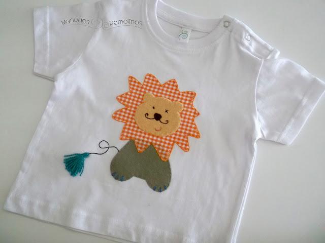 Camiseta león naranja (parte delantera)