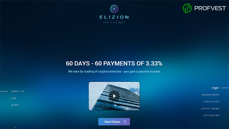 Elizion обзор и отзывы вклад 350$