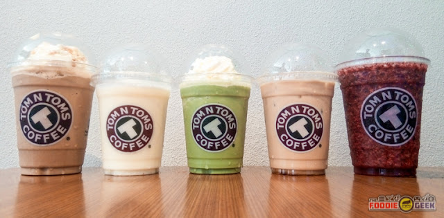 Tom N Toms Coffee Manila, drinks, refreshments, coffee, smoothies, frappuccino, frappe