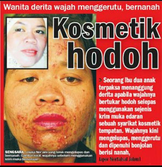 kesan kosmetik bahaya