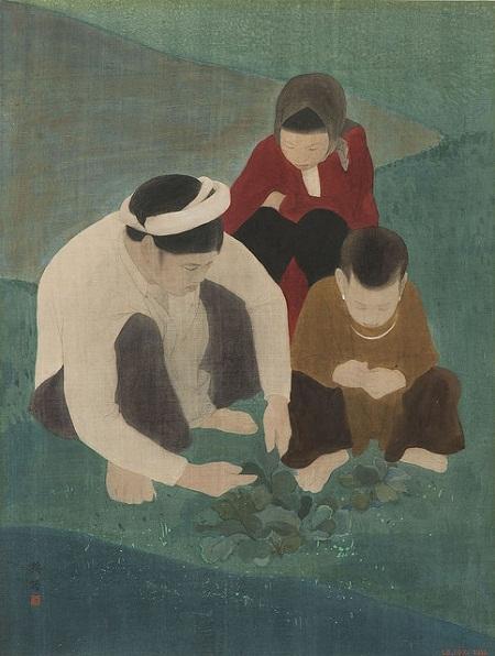 tranh sơn dầu Việt Nam
